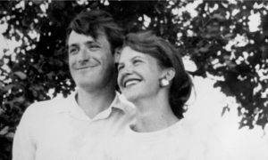 Ted Hughes and Sylvia Plath August 1956